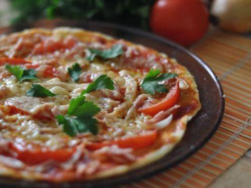пицца в микроволновке из теста рецепт