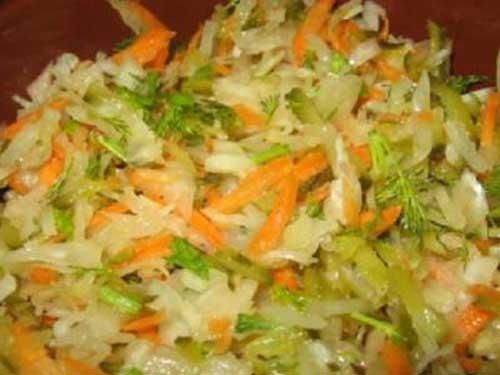Салат из капусты и соленых огурцов рецепты