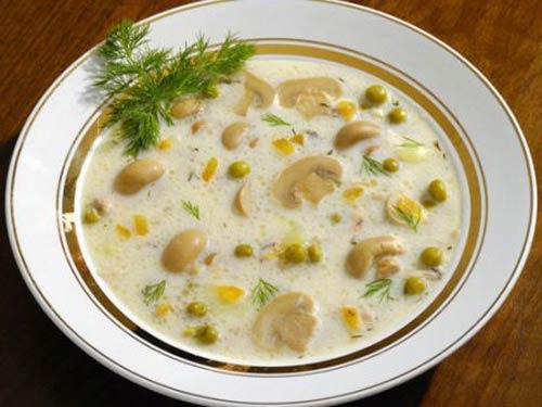 Суп пюре из шампиньонов с плавленным сыром рецепт
