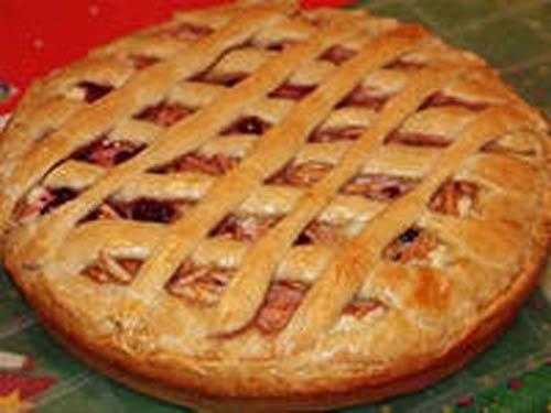 Рецепт открытого пирога с яблоками